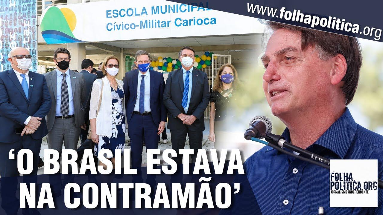 Bolsonaro ressalta valores militares e importância da educação ao inaugurar escola cívico-militar