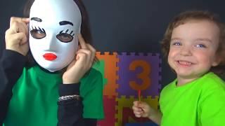 Разноцветные маски Развивающее видео для малышей