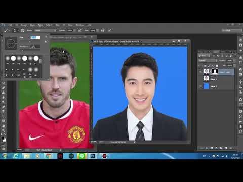 การตัดต่อรูปภาพติดบัตร ด้วยโปรแกรม Photoshop