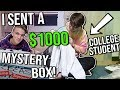 I Sent a $1000 Hypebeast Mysterybox to a COLLEGE STUDENT!