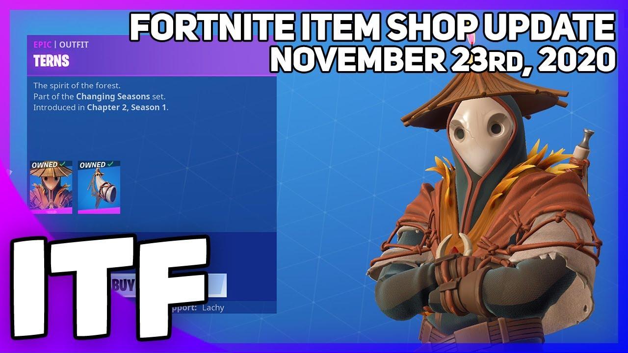 Fortnite Item Shop *NEW* TERNS SKIN! [November 23rd, 2020] (Fortnite Battle Royale)