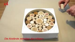011 Schale aus Kunstharz und Aststücken: Vom Guss zum Rohling. Epoxy Resin Bowl