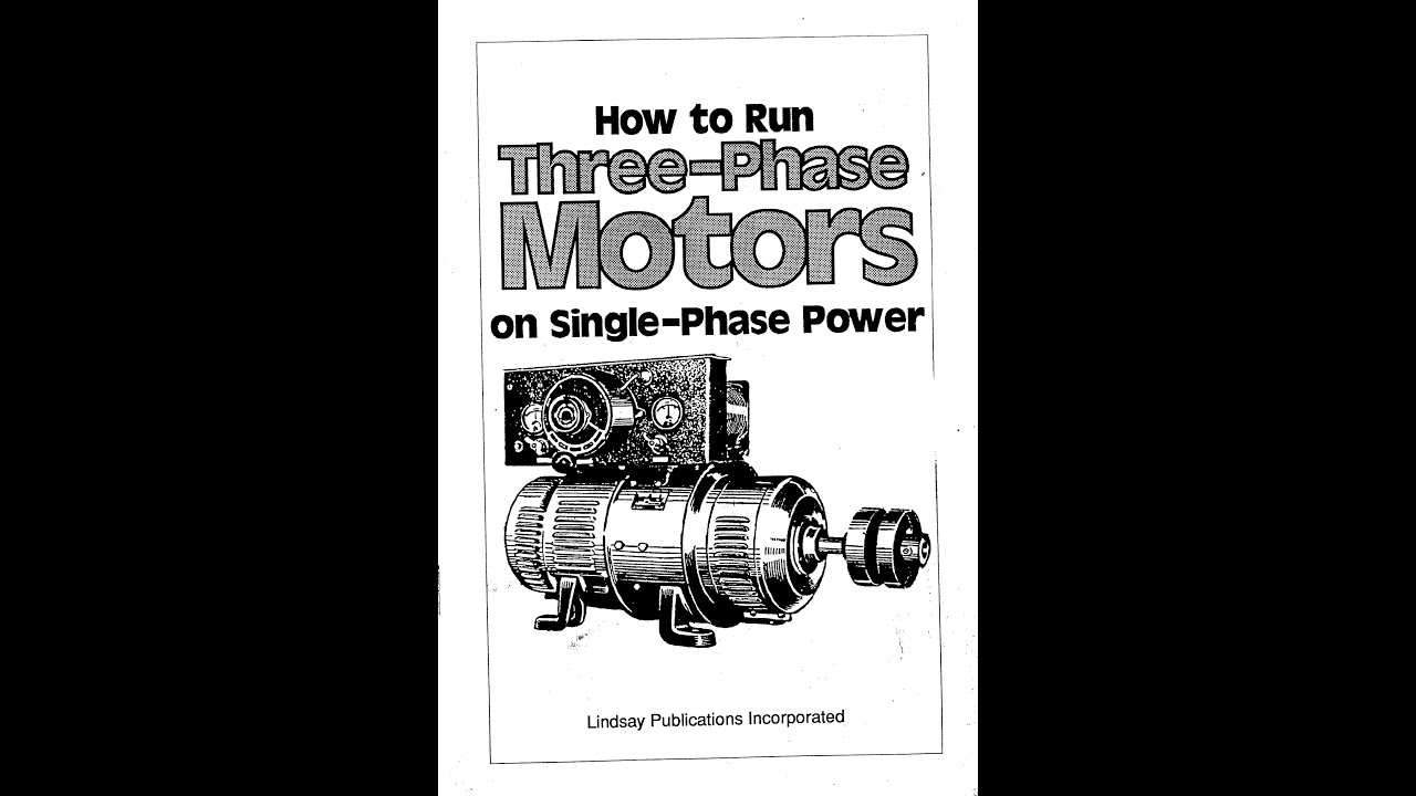 Single Phase 220v Wiring Diagram Running A 3 Phase Motor On Single Phase Power Youtube