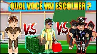 POBRE vs RICO vs CHEFÃO no MAD CITY !! -ROBLOX-