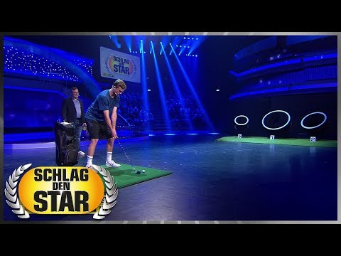 Erhöhte Verletzungsgefahr   Golfbälle chippen  - Schlag den Star