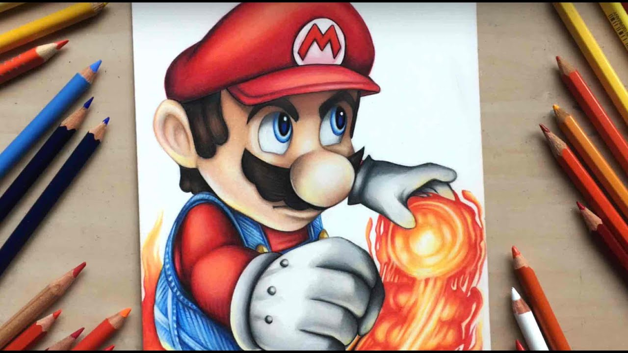 Plant Piranha Drawing Mario Super