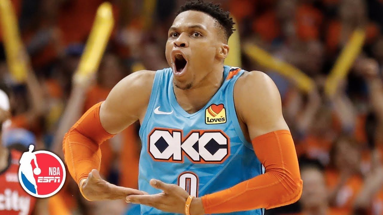 Russell Westbrook, Damian Lillard go at it in Thunder's win in Game 3 | NBA Highlights