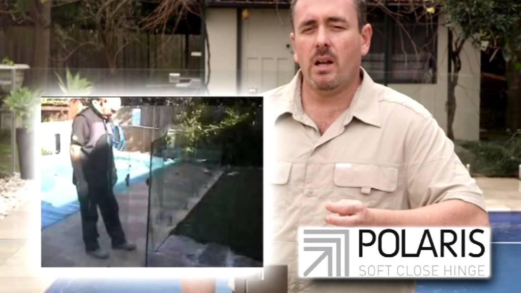 Demonstration Polaris Glass Pool Fencing Hinge Eliminates Gate Slamming Youtube