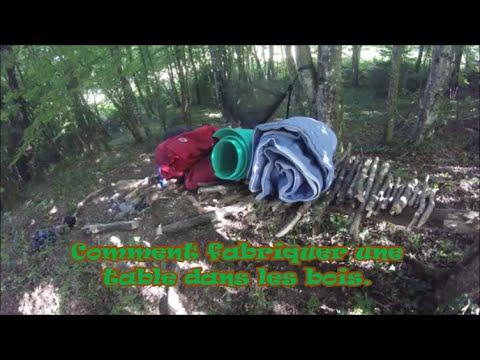 Comment fabriquer une table dans les bois youtube - Fabriquer table bois ...