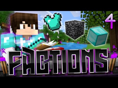 Minecraft Factions Let's Play: E4 - RICH BEDROCK VAULT RAID!
