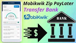 Transfer Mobikwik PayLater Balance Your Bank Account screenshot 4
