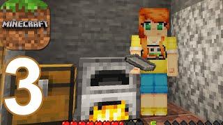 Minecraft - First Iron - Gameplay Walkthrough Part 3 (Android,iOS)