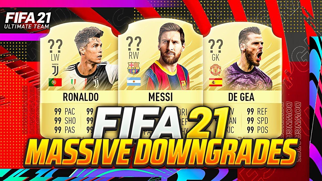 Fifa 21 Biggest Ratings Downgrades W De Gea Kepa Eden Hazard Pogba Ronaldo Messi Youtube
