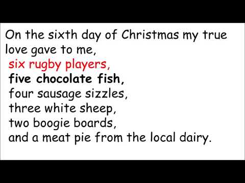 the 12 days of kiwi christmas - 12 Days Of Christmas Lyrics