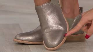 Clarks Leather Slip-on Booties