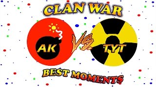 ♥AGARIO♥ Clan War ༺ѦҞ༻ Vs TψT Best Moments