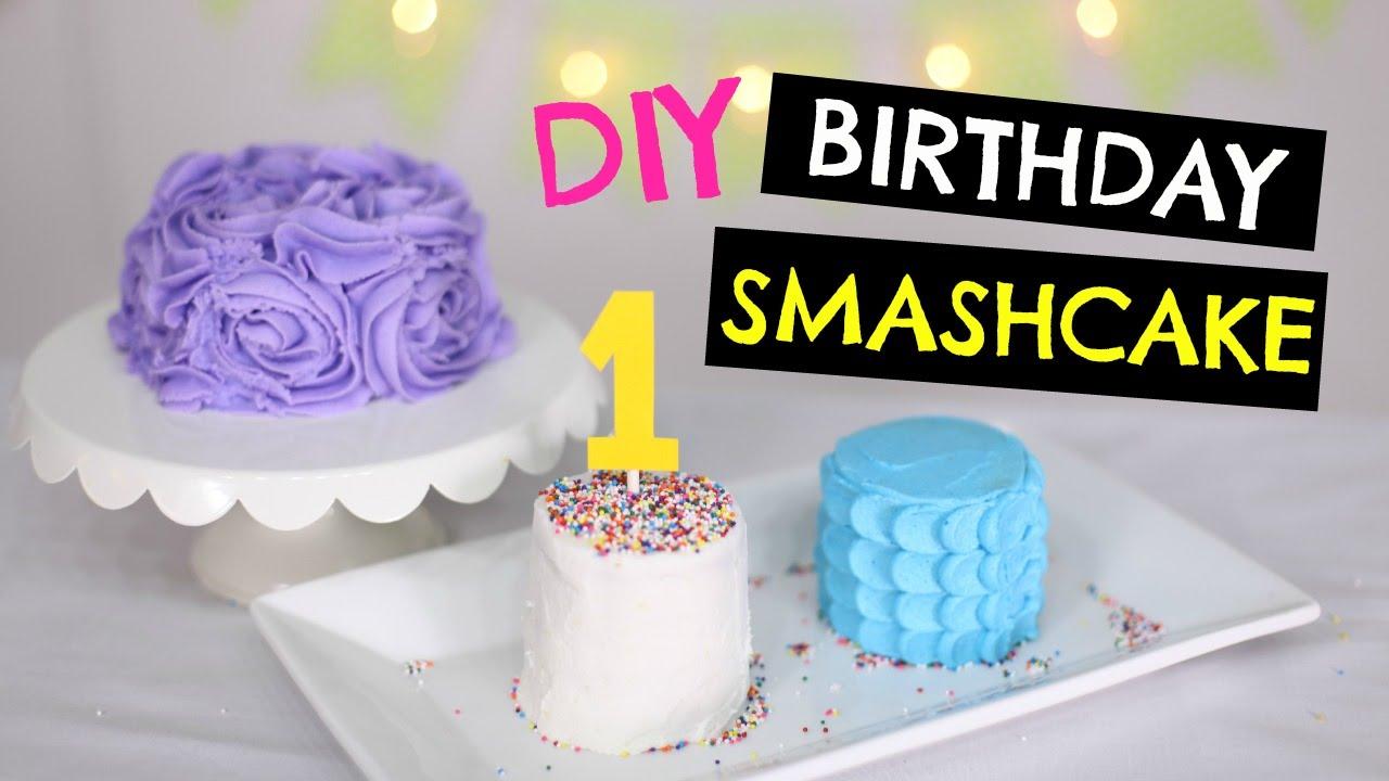 Diy 1st Birthday Smash Cake For Baby 3 Ways To Decorate Youtube