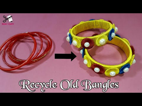Best Out Of Waste | How To Recycle Old Bangles At Home | DIY Art And Craft | Bridal Chura