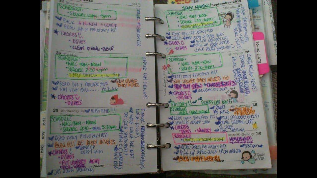 My New Filofax Diary Inserts ft. Filofax Personal Ranger - YouTube