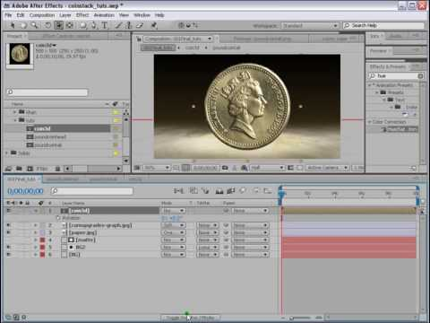 After Effects Tutorial Coin stack