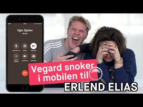 Vegard snoker i mobilen til Erlend Elias
