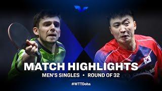 Kirill Gerassimenko vs Jeoung Youngsik | WTT Star Contender Doha 2021 | MS | R32 Highlights