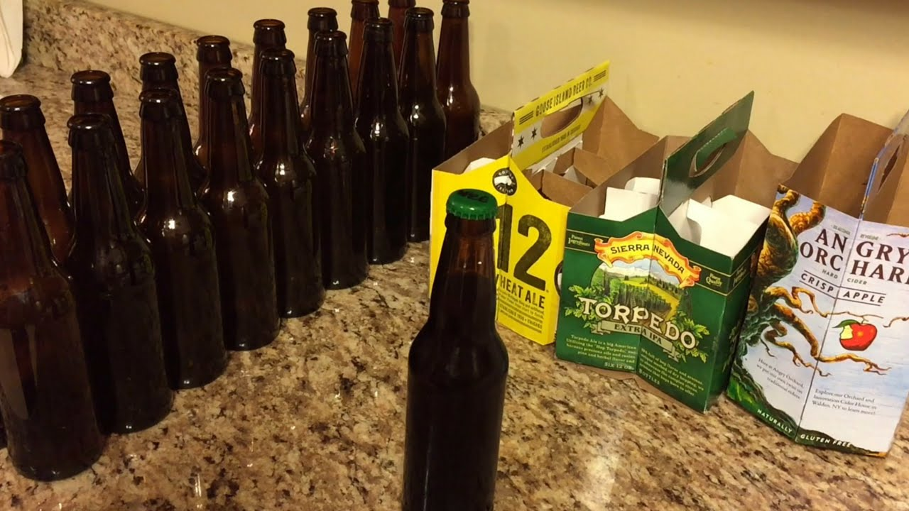 bac8e1d1b5be How to remove beer labels (without chemicals) - YouTube