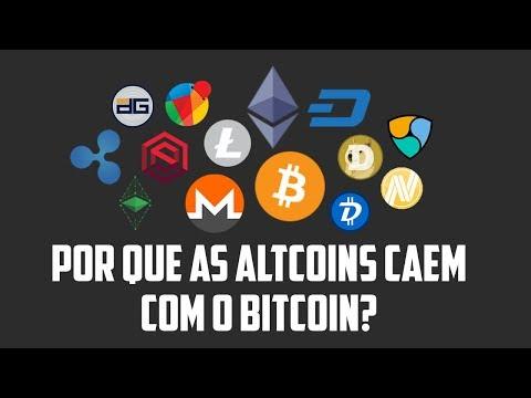 Por que as altcoins estão caindo com o bitcoin?