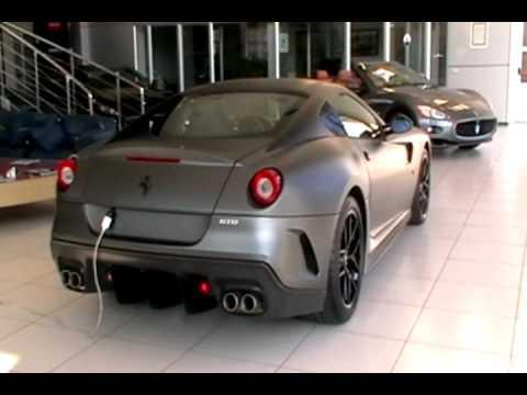 matte grey ferrari 599 gto - Matte Black Ferrari 599
