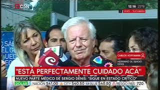 """Nuevo parte médico de Sergio Denis: """"Sigue en estado crítico"""""""