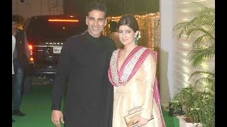 Akshay kumar and twinkle khanna attend ekta kapoor diwali party 2017