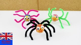 Spider Lollipop for Halloween | Deco and Gift Idea | Crafts for kids | Fun Party Idea