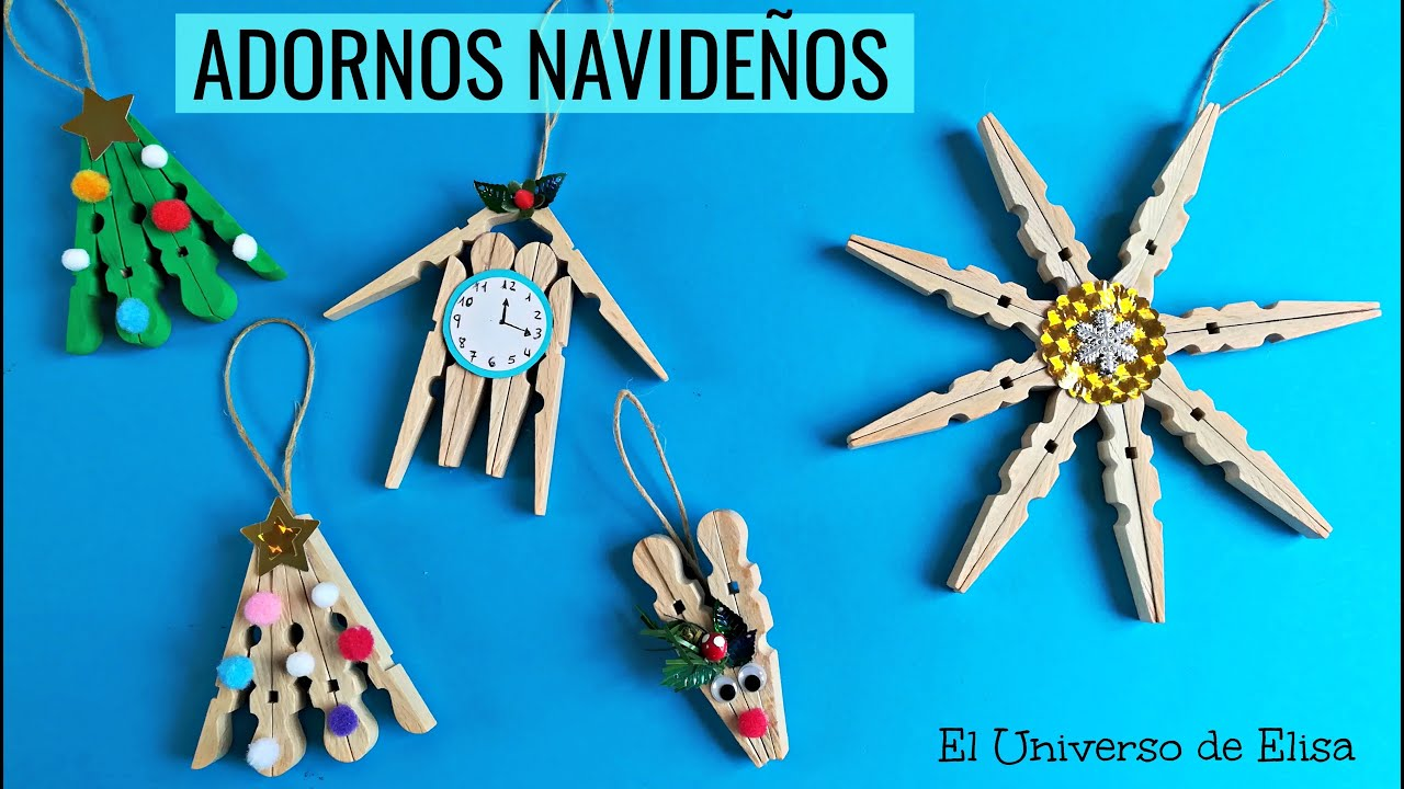 4 ideas con pinzas de madera adornos navide os para el - Ideas navidad manualidades ...