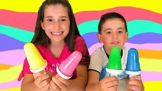 Ingrid makes Ice Cream Popsicles, Learn Colors Songs