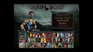Mortal Kombat: Unchained (PSP) - Kitana Playthrough