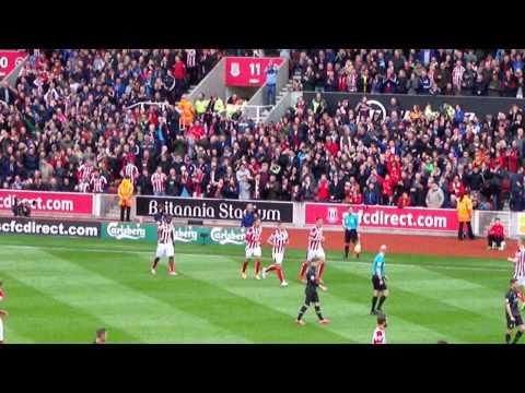 Stoke City - Jon Walters Goal Celebrations vs. Liverpool