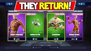 Fortnite MERRY MARAUDER RETURNS! Christmas Skins are BACK! 12/22/2018 ITEM SHOP!