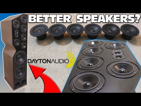 "IMPROVING Home Theater Speakers w/ 5"" Dayton Audio Mids & Custom Homemade Speaker Tower Projects"