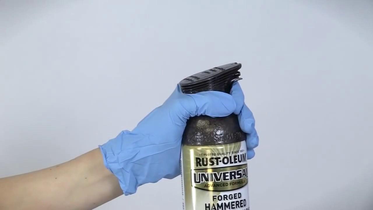 How To Create Hammered Finish Rust Oleum Universal Spray