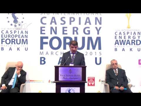Firdovsi Əliyev - Caspian Energy Forum - Baku 2015-az