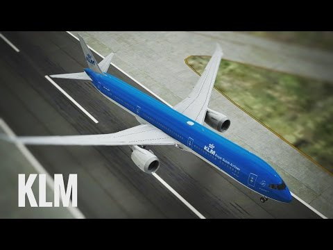Infinite Flight KLM Boeing B787 - 10 takeoff at London Heathrow Airport