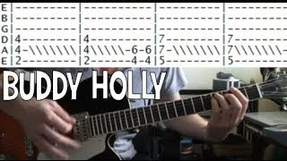 Weezer Buddy Holly Famous Riffs Expert Guitar Instructions Song Tablature