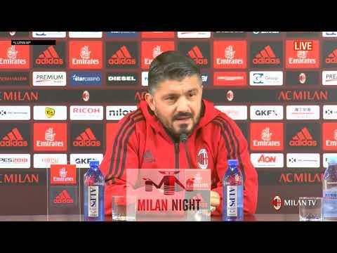 Gattuso conferenza pre Milan Bologna FULL HD 09 12 2017