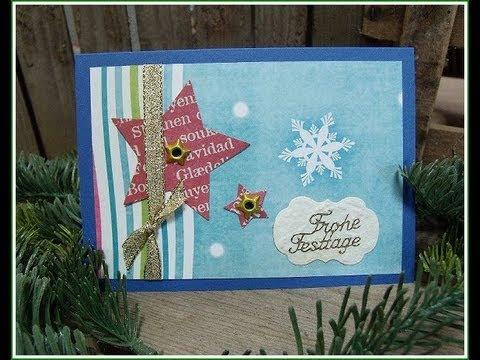 Weihnachtskarte basteln christmas card serie 1 - Interaktive weihnachtskarte ...