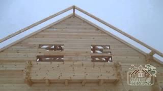 видео Проект одноэтажного деревянного дома из бревна: рекомендации по выбору