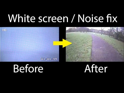 Fixing White Screen Issue / Noise FPV camera (Foxeer HS1177 / 1190)