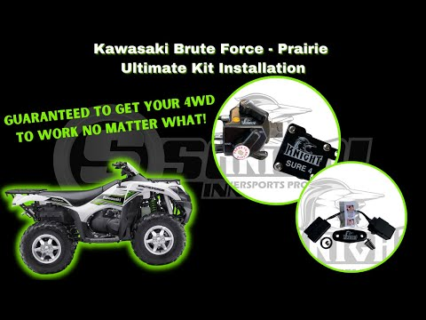 Manual 4wd, Sure 4, Ultimate Kit Installation on Brute Force