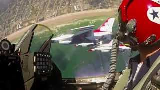 Fly Amongst The Solo Thunder - USAF Thunderbirds