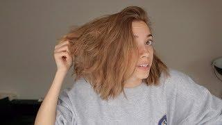 Ich versuche meine Haare natürlich aufzuhellen
