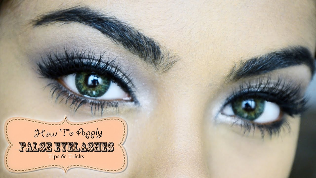 how to put on lashes for beginners